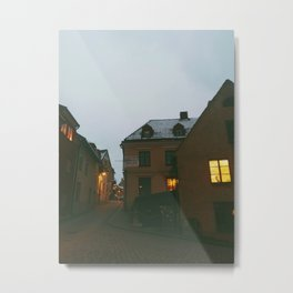 Streets of Visby, Island of Gotland, Sweden  Metal Print
