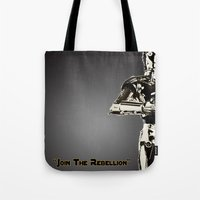 c3po Tote Bags featuring C3PO by KL Design Solutions