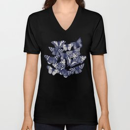 butterfly yellow Unisex V-Neck