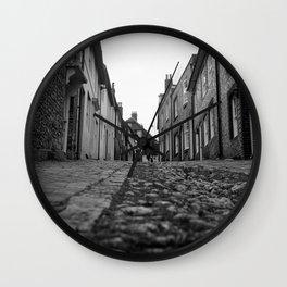 Cobblestone 2, Lewes, England Wall Clock