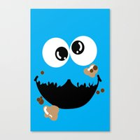 cookie monster Canvas Prints featuring Cookie Monster  by Lyre Aloise