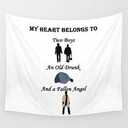 My Heart Belongs to Supernatural Wall Tapestry