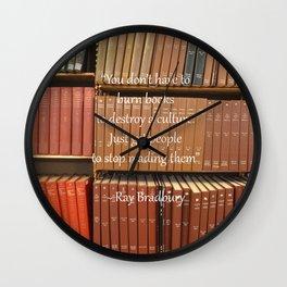 Ray Bradbury Quote Wall Clock