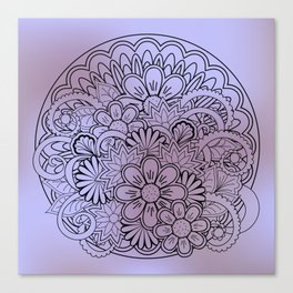floral composition in mandala Canvas Print