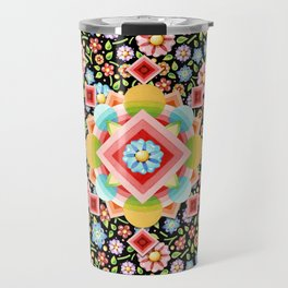 Geometric Chintz Mandala Travel Mug