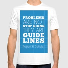 Guide Lines Mens Fitted Tee MEDIUM White