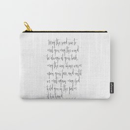 Inspirational Quote Irish Blessing Printable Quote Print Typography Print Quote Irish Song Irish  Carry-All Pouch