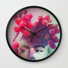Succulent Frida #buyart #surreal Wall Clock