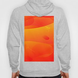 Colorful Orange Abstract Art Design Hoody
