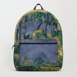 """Paul Cezanne """"The House with the Cracked Walls"""" Backpack"""