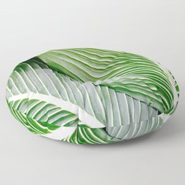 Big Leaves - Tropical Nature Photography Floor Pillow