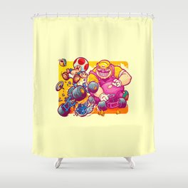 Beware The Blue Shell Shower Curtain