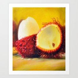 TROPICAL FRUIT-RAMBUTAN Art Print