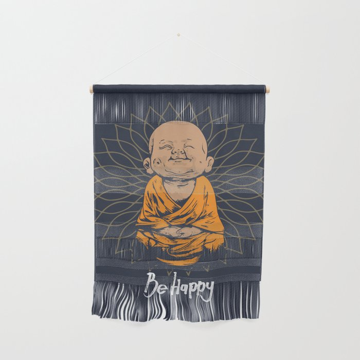 Be Happy Little Buddha Wall Hanging