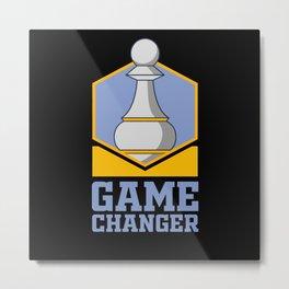 Chess, Chess Gift, Chess Checkmate Metal Print