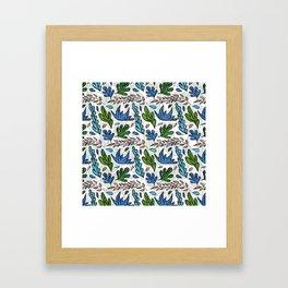 Tropical Leaves 2 Framed Art Print
