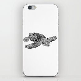 Sea Turtle Watercolor Art iPhone Skin
