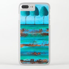 Teal Me A Story Clear iPhone Case