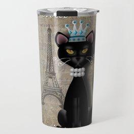 Le Chat, La Reine - The Cat, The Queen Travel Mug