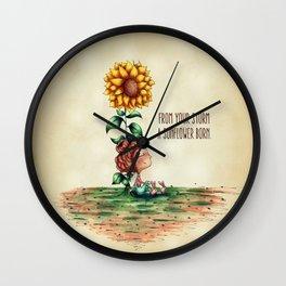Amora Sunflower Wall Clock