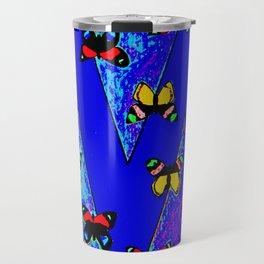 Bright Butterfly Pattern Print Travel Mug
