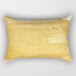Sandy brown abstract wash painting Rectangular Pillow