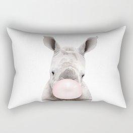 Bubble Gum Baby Rhino Rectangular Pillow