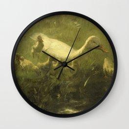 Willem Maris - White duck Wall Clock