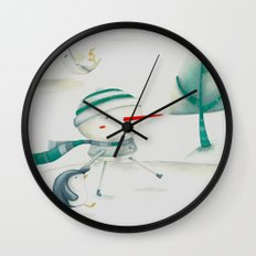 Snowman and friend Wall Clock
