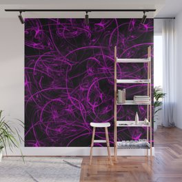 many small oscillations purple in black Wall Mural