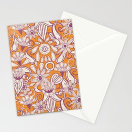 sarilmak tangerine damson Stationery Cards