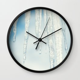 Icicles II Wall Clock