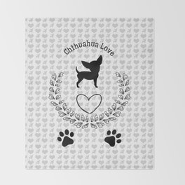 Chihuahua Love Throw Blanket