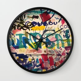 Urban Graffiti Paper Street Art Wall Clock