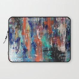 Abstract Art Multicolor Lake with Trees Laptop Sleeve