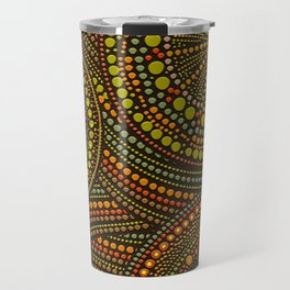 Dot Art Circles Aboriginal Art #2 Travel Mug