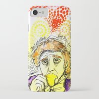willy wonka iPhone & iPod Cases featuring Willy Wonka Drinks His Tea - Gene Wilder  by Sewzinski