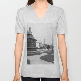 Gayarre Place, New Orleans 1900 Unisex V-Neck