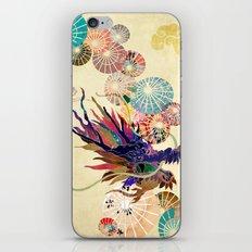 Dragon with unbrellas iPhone Skin