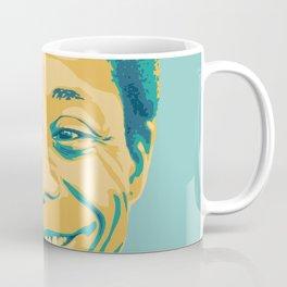 James Baldwin Portrait Teal Gold Blue Coffee Mug