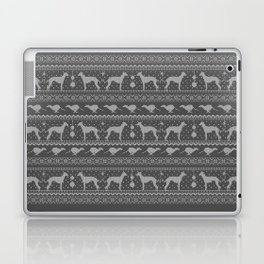 Ugly Christmas sweater | Greyhound / Whippet / Italian greyhound grey Laptop & iPad Skin