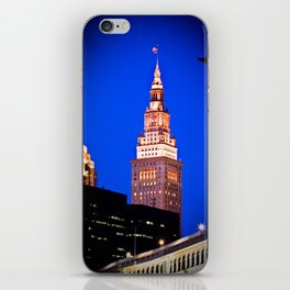 Terminal Tower And Veterans Memorial Bridge iPhone Skin