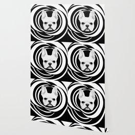 Frenchie Retro Disco Dog #2 #decor #art #society6 Wallpaper