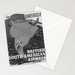 Affiche classic South America To-Morrow poster Stationery Cards