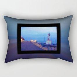Seaside scene blurry Rectangular Pillow