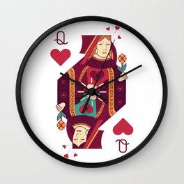 Queens of Hearts Wall Clock