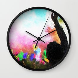 Holi Colors Wall Clock