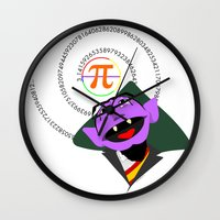 pi Wall Clocks featuring Count Pi by tuditees