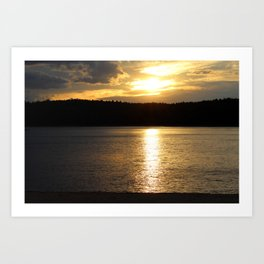 Sunset at Concord's Walden Pond 9 Art Print
