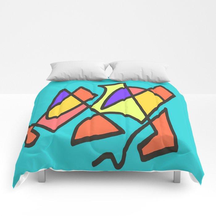 Blue blue multicolor Comforters